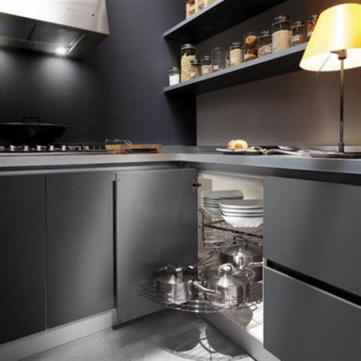 best Grey painted kitchens  on Pinterest  Kitchen