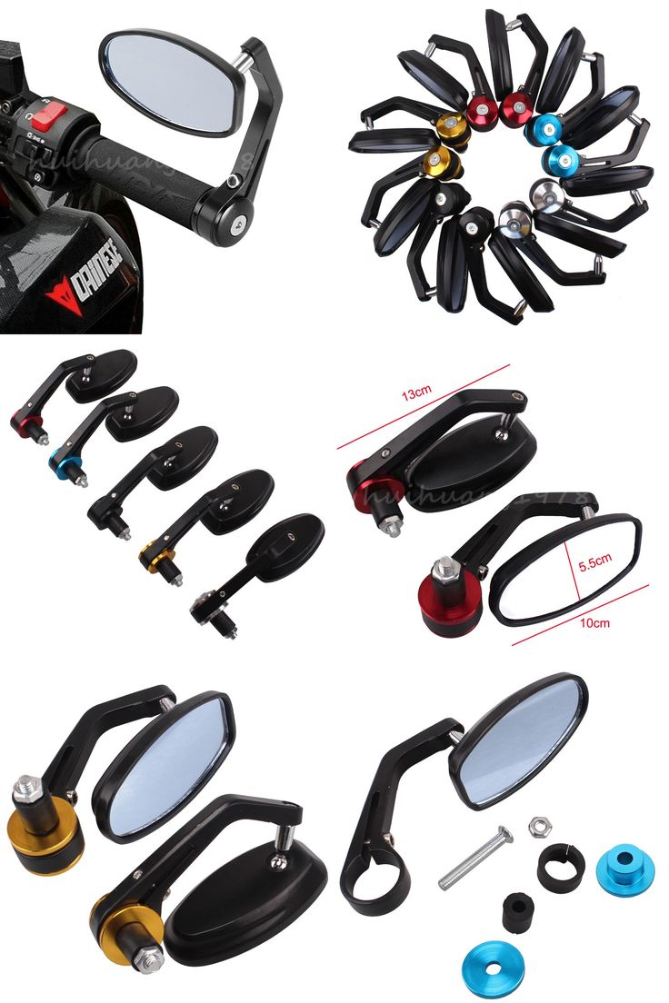 [Visit to Buy] Universal Motor Side Mirrors Motorcycle Accessories Flexible Handlebar Rearview For Yamaha BMW Honda Suzuki Ducati Kawasaki  #Advertisement
