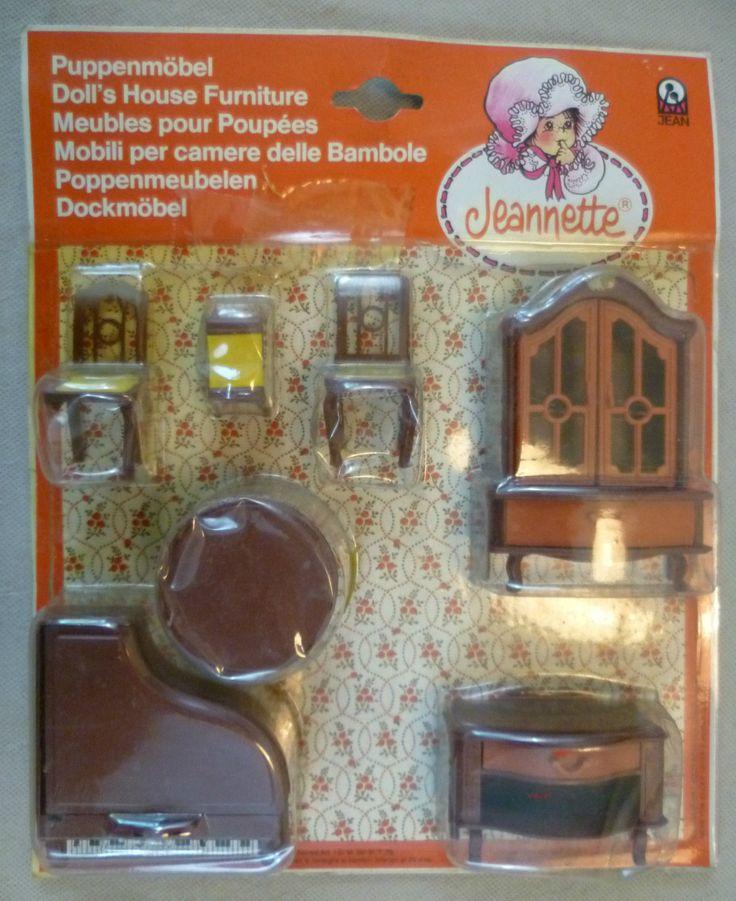 Vintage Dolls House Carded Jean Of West Germany Jeanette Plastic Music Room Set | eBay