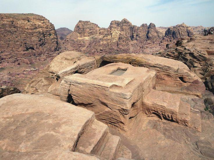 Al-Madbah, the High Place of Sacrifice at Petra, Jordan, offers sweeping views.