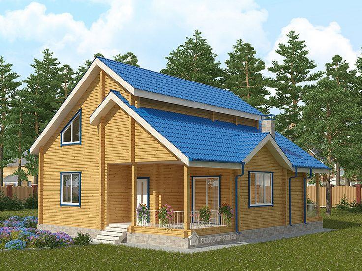 2 Проект зимнего дома из бруса СД-39