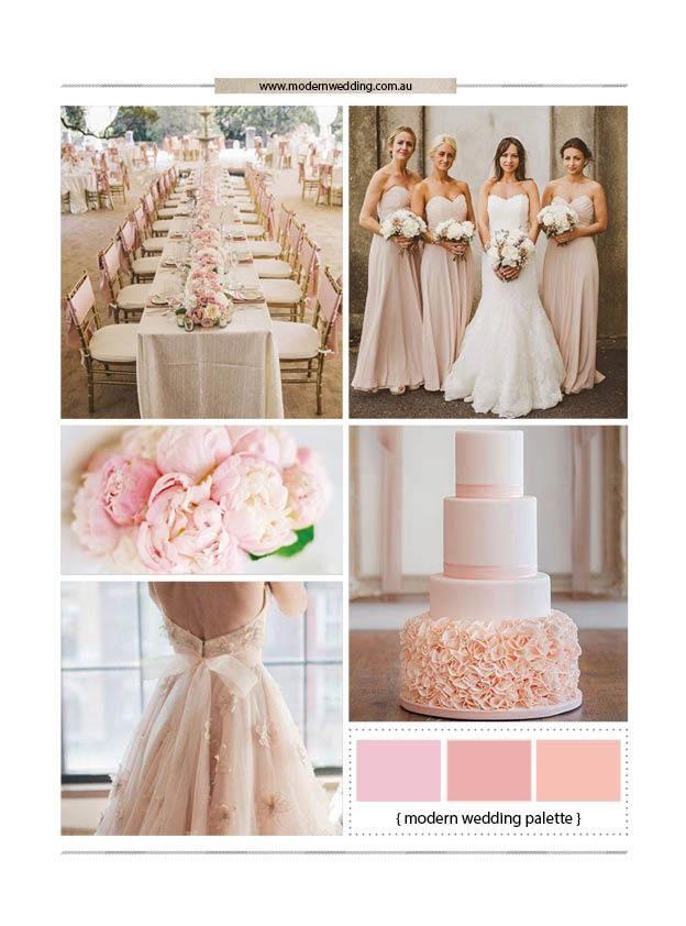 A Blush Wedding Theme - Modern Wedding