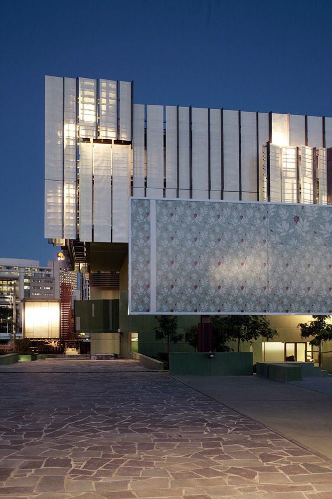 State Library of Queensland / Donovan Hill Peddle Thorp translucent / colour / pattern / concrete / layered