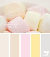 Beautiful pastel palette .