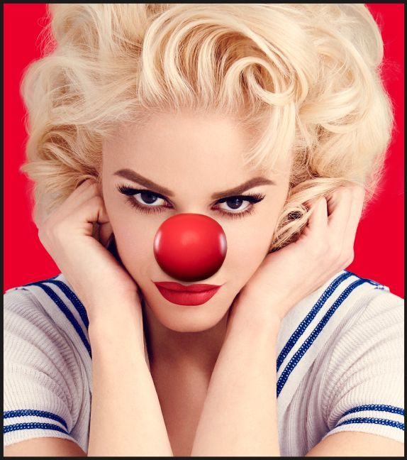 Gwen Stefani donning a Red Nose for #RedNoseDay! Get seriously silly for a good cause: rednoseday.org | Red Nose Day USA