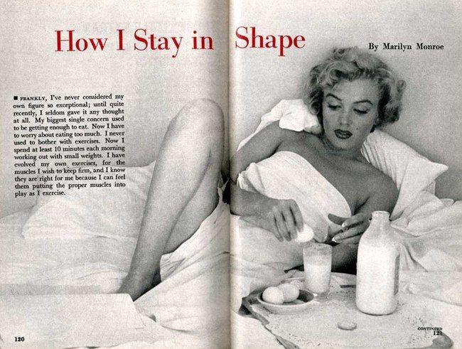 Bikini Projesi: Marilyn Monroe: Tüm zamanların en iyi Bikini vücudu