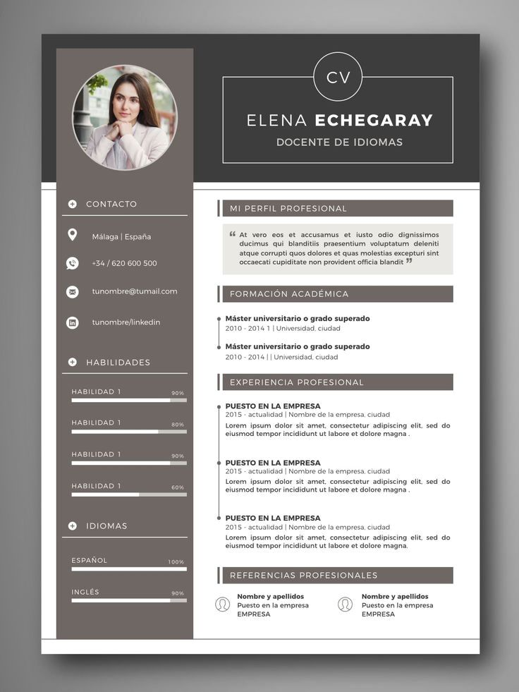 23 Best Resume Clean 2019 Resume Design Creative Resume Design Professional Curriculum Template