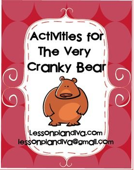 Free! The Very Cranky Bear Activities - The Lesson Plan Diva - TeachersPayTeachers.com