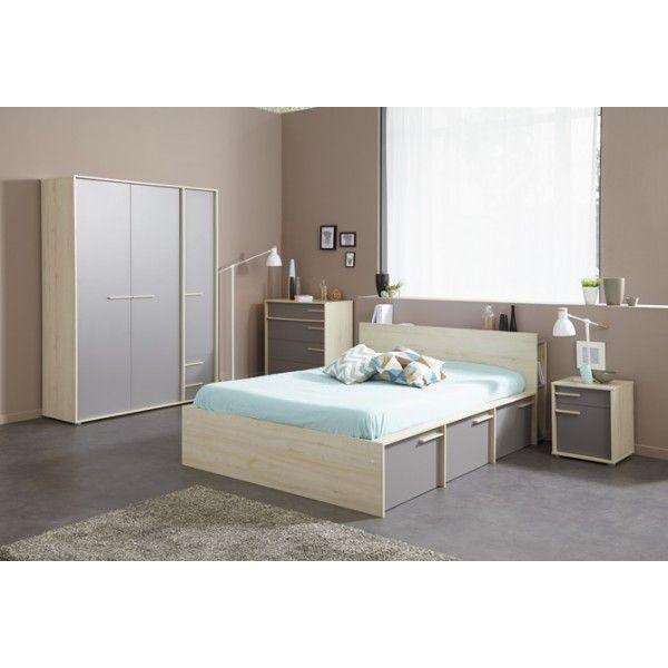 Parisot Connect Double Bed Bedroom Furniture Set