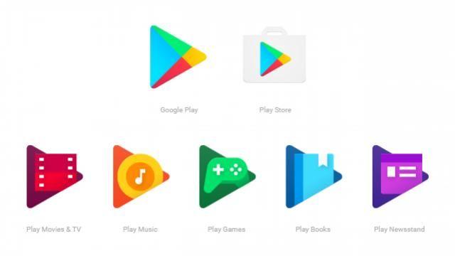 Google gaat het ontwerp van zijn reeks Play-apps aanpassen. Het design wordt straks bij alle apps uit de Play-reeks hetzelfde.