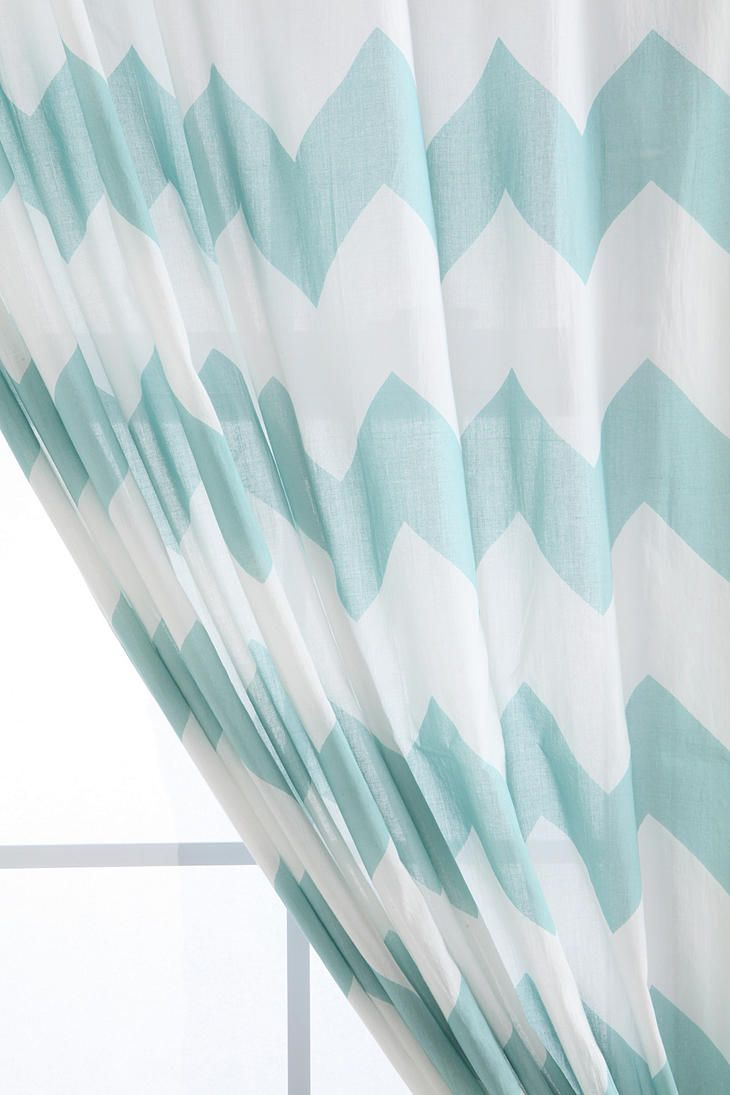 Zigzag Curtain  #UrbanOutfitters. love the greyUrbanoutfitters, Dining Room, Urban Outfitters, Living Room, Blue Chevron, Zigzag Curtains, Bedrooms, Shower Curtains, Chevron Curtains