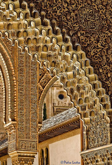 Patterns of the Alhambra, Granada, Spain.  #travel