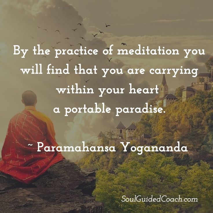 Meditation is the ultimate medicine, because it connects you to the full potential of your soul