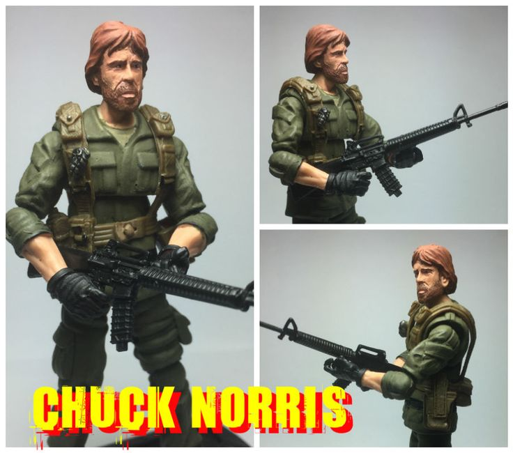 "Chuck Norris from Missing in Action 3.75"" (G.I. Joe) Custom Action Figure [Chuck Norris Fact]"