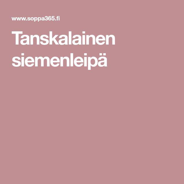 Tanskalainen siemenleipä
