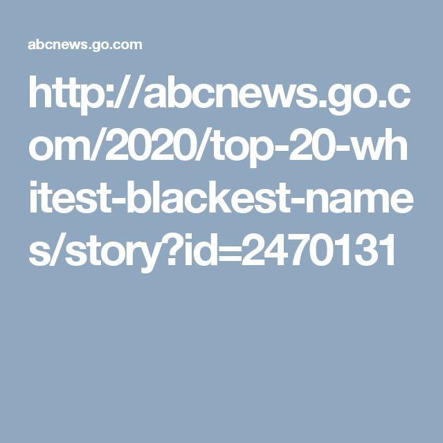 http://abcnews.go.com/2020/top-20-whitest-blackest-names/story?id=2470131