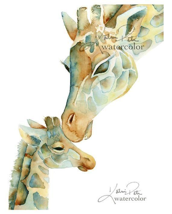 #Aquarell #Artikel #auf #Baby #Etsy #Giraffe