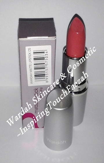 Wardah Cosmetic Matte Lipstick 05 (Eng Ver) Soft Texture with Matte not too shiny effect. Colours in one stroke.Moist on lips. Contains Jojoba Oil and Squalene Comes in 20 shades - See more at: http://www.wardahskincare.com/product_info.php?cPath=7_16_id=273#sthash.EC65zRP1.dpuf