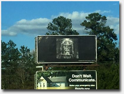 The Shroud Billboard Project near Hilton Head, South Carolina- Photo ©2017 William Kelly
