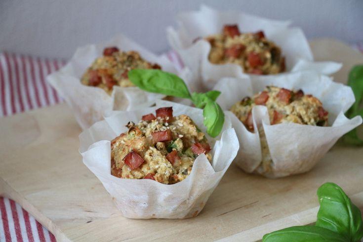 Proteinrike matmuffins med ost & skinke - lindastuhaug