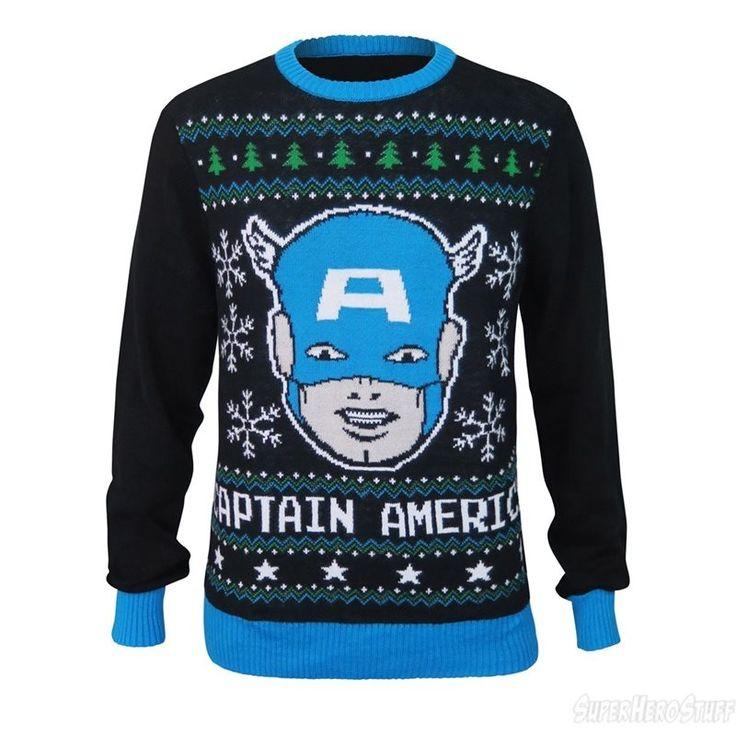 Captain American Snowflakes Men's Christmas Sweater