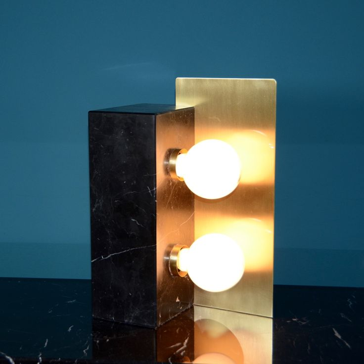Matlight Vintage Collection - mod. Cubus in Marquinia marble and satin brass #cubus #marquinia #brass #vintage #matlight #milano #exclusive
