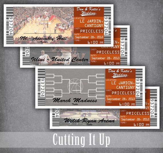 Basketball Wedding Escort Cards, Seating Cards, Basketball Tickets, Basketball Reception, Sports Wedding, Basketball Wedding, Bar Mitzvah by CuttingItUp