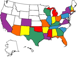 Map United States Visited Us State Map Rv Map With Colored States Color States Map
