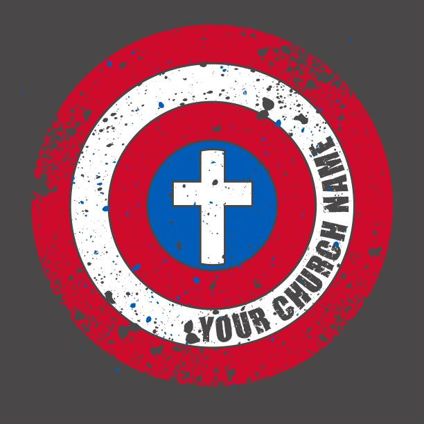 Shield of Faith Youth Group Captian America Shirt Design