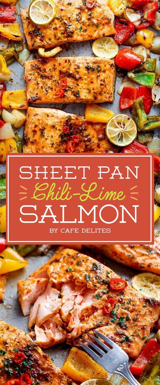 Sheet Pan Chili-Lime Salmon