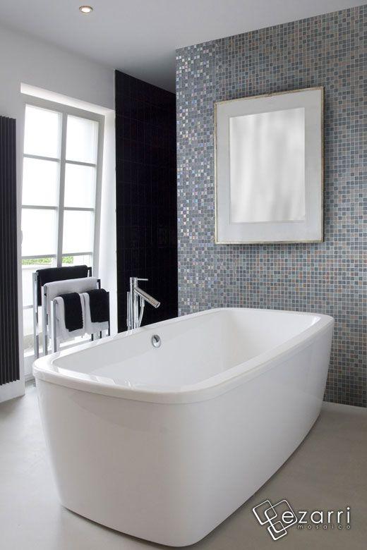 17 meilleures images propos de salle de bains idees sur pinterest salle d - Mosaique grise salle de bain ...