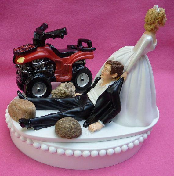 Atv Wedding Cake Topper