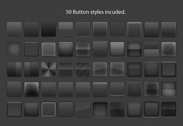 Free Button Styles 2: Buttons Layered, Style Includ, Free Buttons, Layered Style, 50 Buttons, Glasses Mirror, Photoshop Buttons, Realistic Buttons, Buttons Style