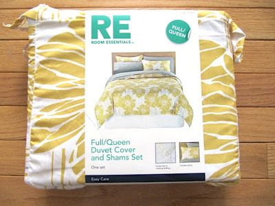 Use a Target duvet to make curtains! Just 2 straight sewing lines to do - easy & economical.