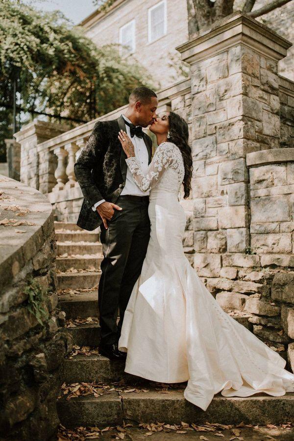 Glam bride and groom  #wedding #weddings #weddinginspiration #engaged #aislesociety #glamwedding