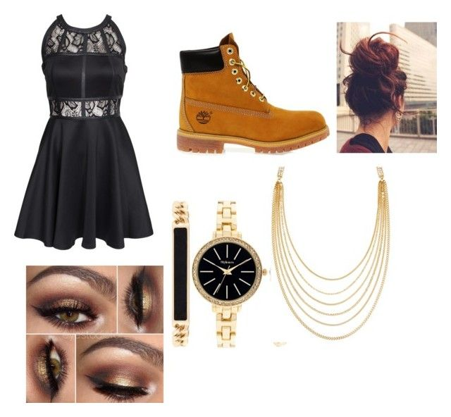 """Untitled #14"" by jazzysamek on Polyvore featuring AX Paris, Timberland, Style & Co. and White House Black Market"