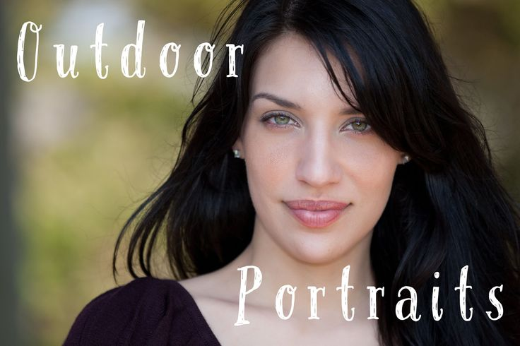 Outdoor Portraits Tutorial: How to use natural light and fill flash with...
