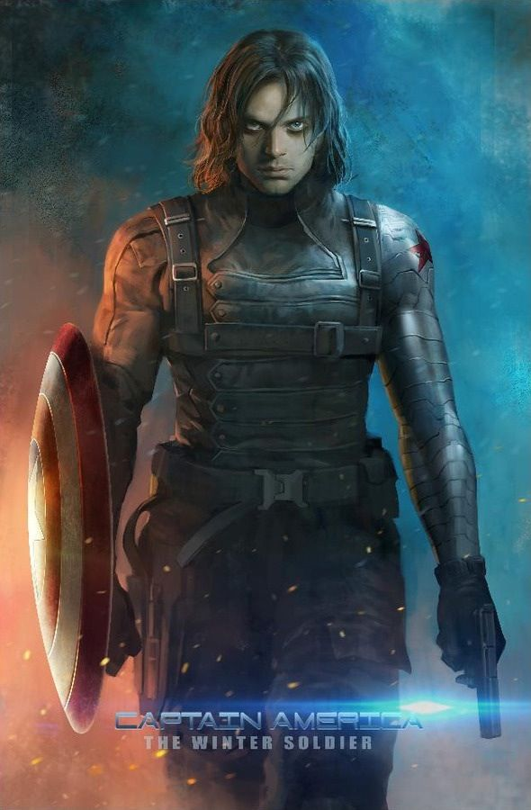 Amazing Winter Soldier Art! This is really nice to look at as a model for a winter soldier costume - I was going to type something else, but I need to remember this. I'm going as him for a costume party soon.