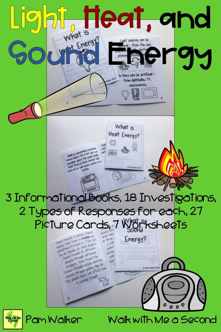 Primary Students Will Love Exploring Light Heat Or Thermal And Sound Energy With This Resource You Ll W Sound Energy Have Fun Teaching First Grade Science [ 1102 x 735 Pixel ]