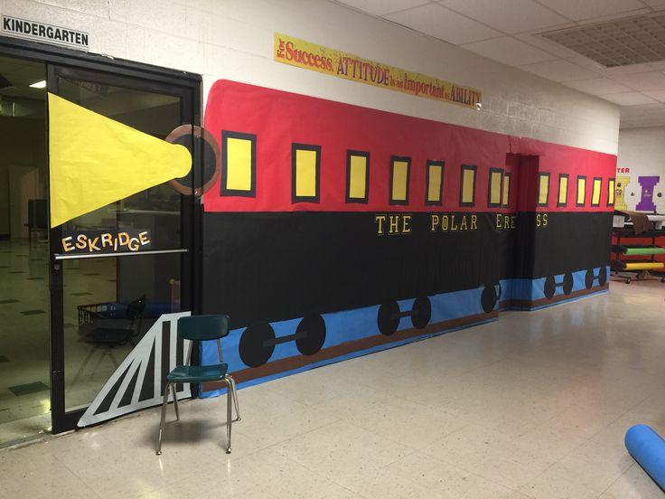 Classroom Train Decor ~ My polar express train classroom doors pinterest