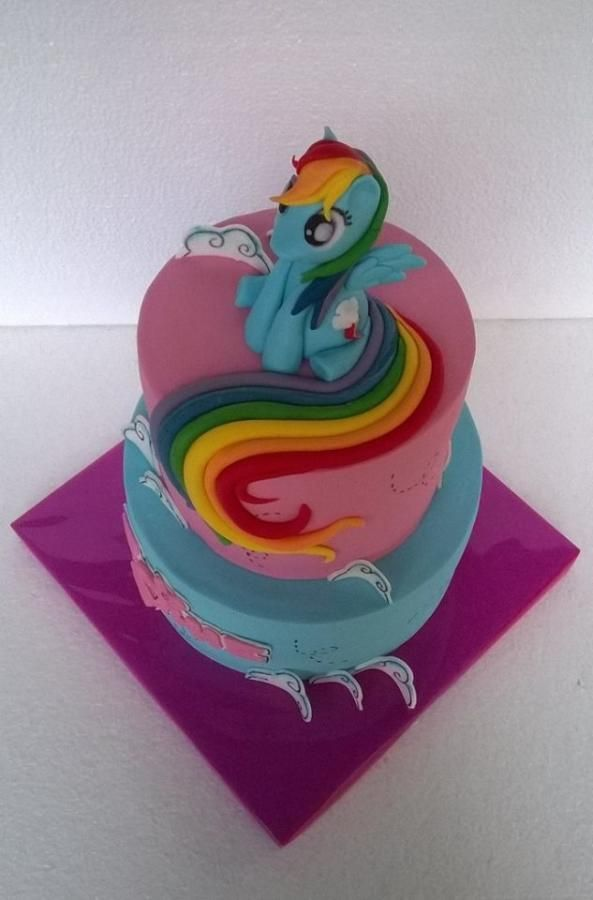 Rainbow Dash Cake Design : Rainbow Dash magic by BULGARIcAkes Cakes & Cake ...