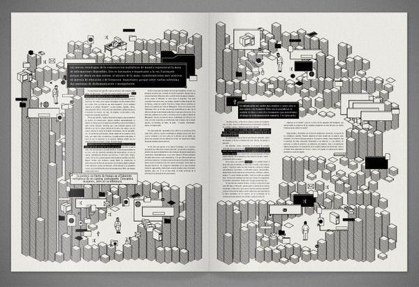 Brochure – La Era de la Hiperdesinformación by Agustín Guerrero, via Behance