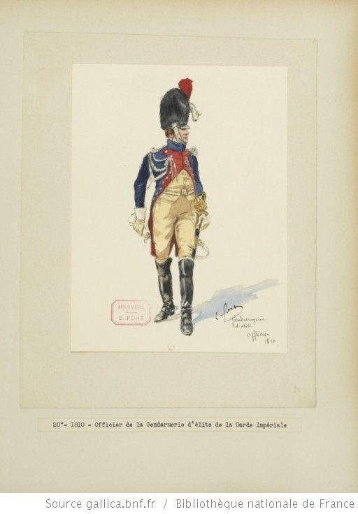 [Grenadiers-gendarmes, gendarmerie d'élite de la garde des consuls et de la garde impériale, 1793-1815 / Notes et aquarelles par E. Fort.] - 34