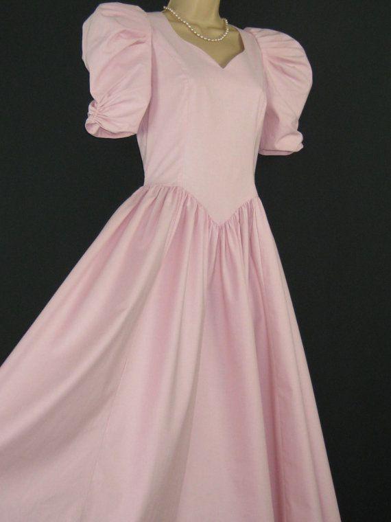 LAURA ASHLEY Vintage Pink Romance Bridesmaid / Occasion Dress, UK 8/10