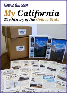 History program done in newspaper format to learn California history. Homeschooling