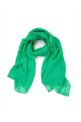 The emerald green trend - Vogue Australia. Country Road scarf $39.95.