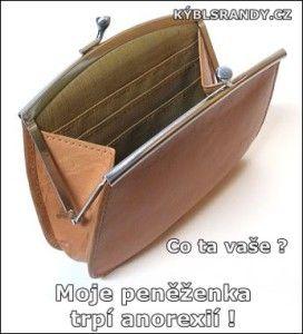 Moje peněženka trpí anorexií!