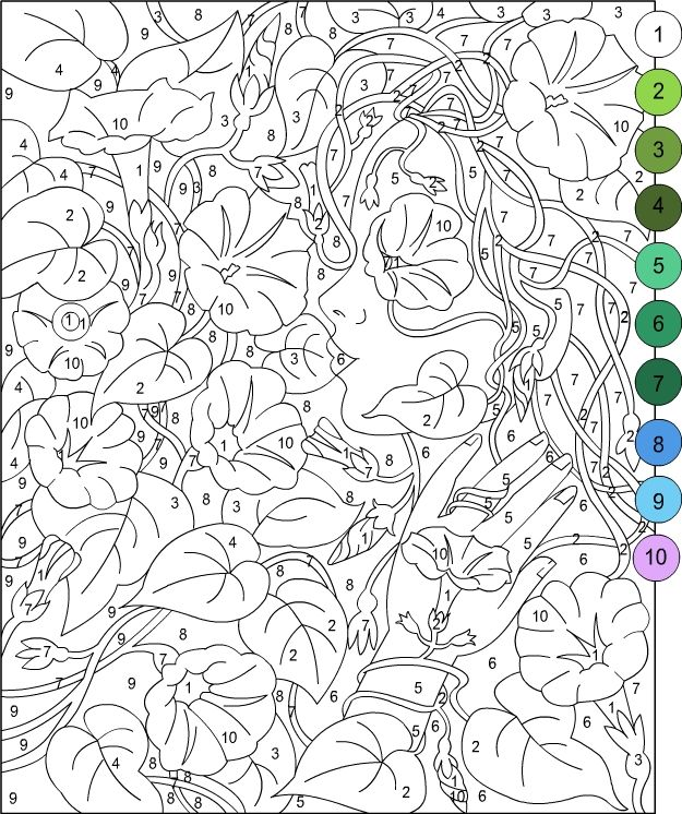 Nicole's Free Coloring Pages: Color by number