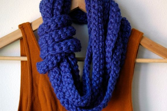 The Tether Scarf in electric blue