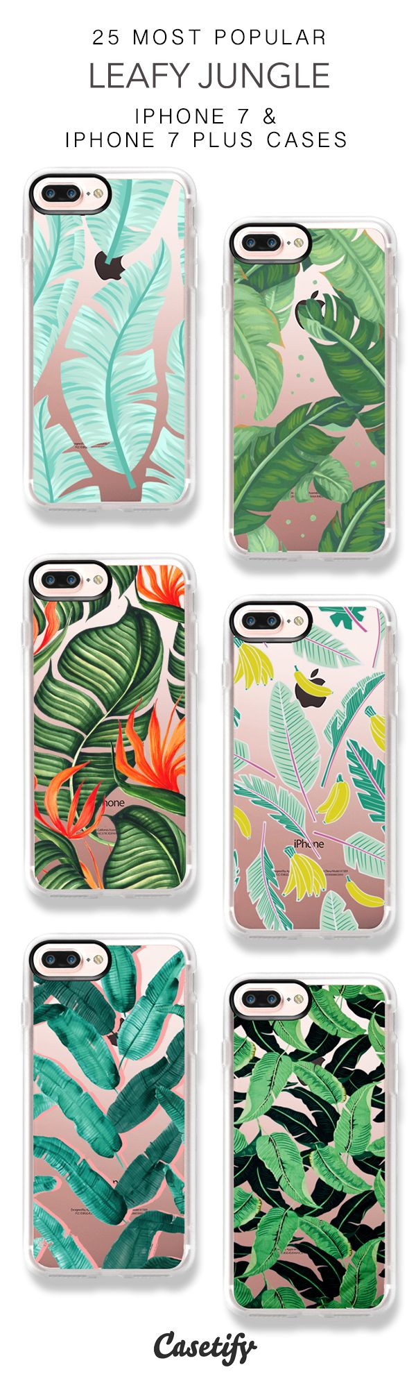 25 Most Popular Leafy Jungle Protective iPhone 7 Cases and iPhone 7 Plus Cases. More Tropical Leaf iPhone case here > https://www.casetify.com/collections/top_100_designs#/?vc=KTqHMyi3oF